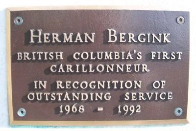The Netherland Carillon Herman Bergink Marker image. Click for full size.
