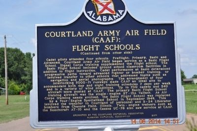 Courtland Army Air Field (CAAF): Flight Schools image. Click for full size.