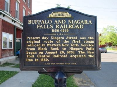 Buffalo and Niagara Falls Railroad Marker image. Click for full size.