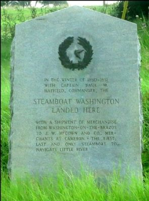 Steamboat Washington Landed Here Marker image. Click for full size.