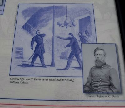 Scene Depicting the Murder of William Nelson at the Galt House in Louisville image. Click for full size.