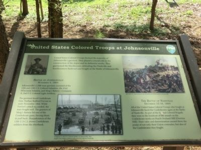 United States Colored Troops at Johnsonville Marker image. Click for full size.