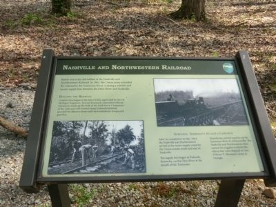 Nashville and Northwestern Railroad Marker image. Click for full size.