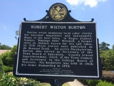 Robert Wilton Burton Marker image. Click for full size.