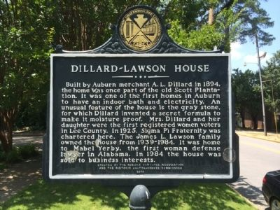 Dillard-Lawson House Marker image. Click for full size.