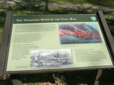 The Tennessee River In the Civil War Marker image. Click for full size.