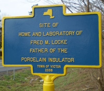 Site of Home and Laboratory of Fred M. Locke Marker image. Click for full size.