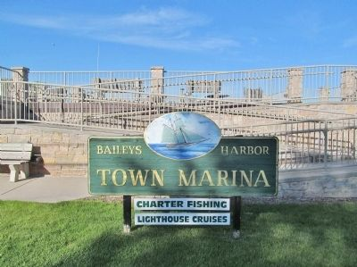 Baileys Harbor Town Marina Sign image. Click for full size.