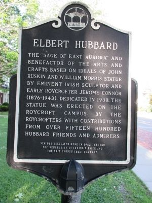 Elbert Hubbard Marker image. Click for full size.