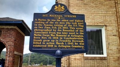 Sgt Michael Strank Marker image. Click for full size.