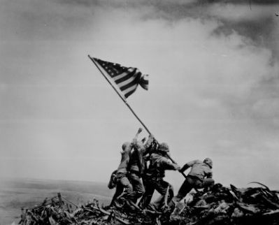 Raising the Flag on Iwo Jima image. Click for full size.