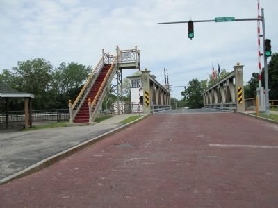 View across Echnage Street Lift Bridge image. Click for full size.
