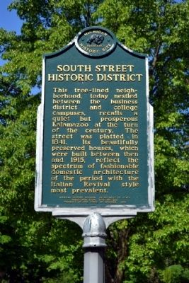South Street Historic District Marker image. Click for full size.