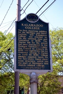 Kalamazoo College Marker image. Click for full size.