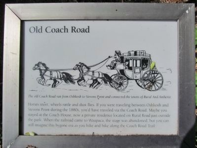 Old Coach Road Marker image. Click for full size.