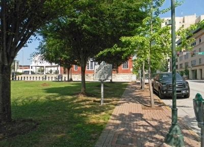 Wide view of the Martin Hotel Marker Photo, Click for full size