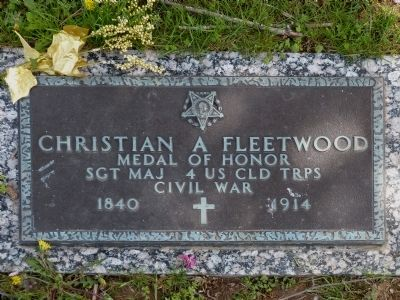 Christian A Fleetwood Marker image. Click for full size.
