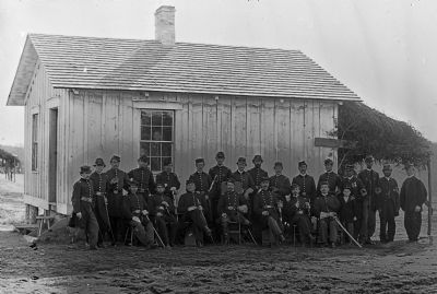 Officers of 4th U.S. Colored Infantry at Fort Slocum image. Click for full size.