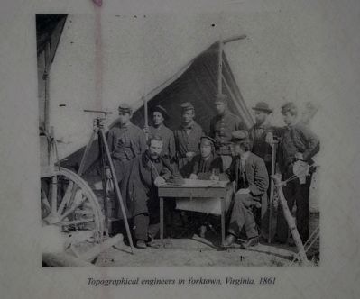 Topographical Engineers in Yorktown, Virginia, 1861 image. Click for full size.