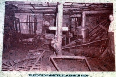 Washington Mortar Blacksmith Shop in 1950s image. Click for full size.