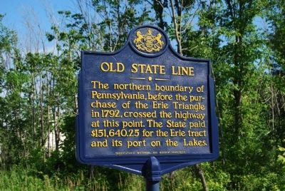 Old State LIne Marker image. Click for full size.