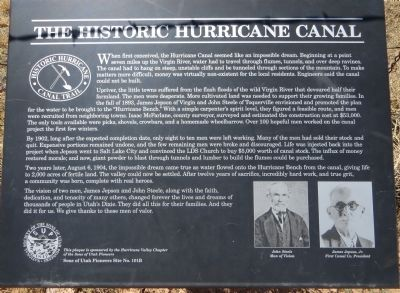 The Historic Hurricane Canal Marker image. Click for full size.