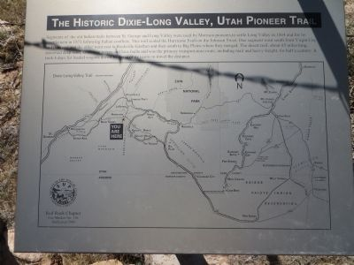 The Historic Dixie-Long Valley, Utah Pioneer Trail Marker image. Click for full size.