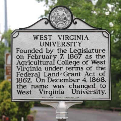 West Virginia University Marker image. Click for full size.