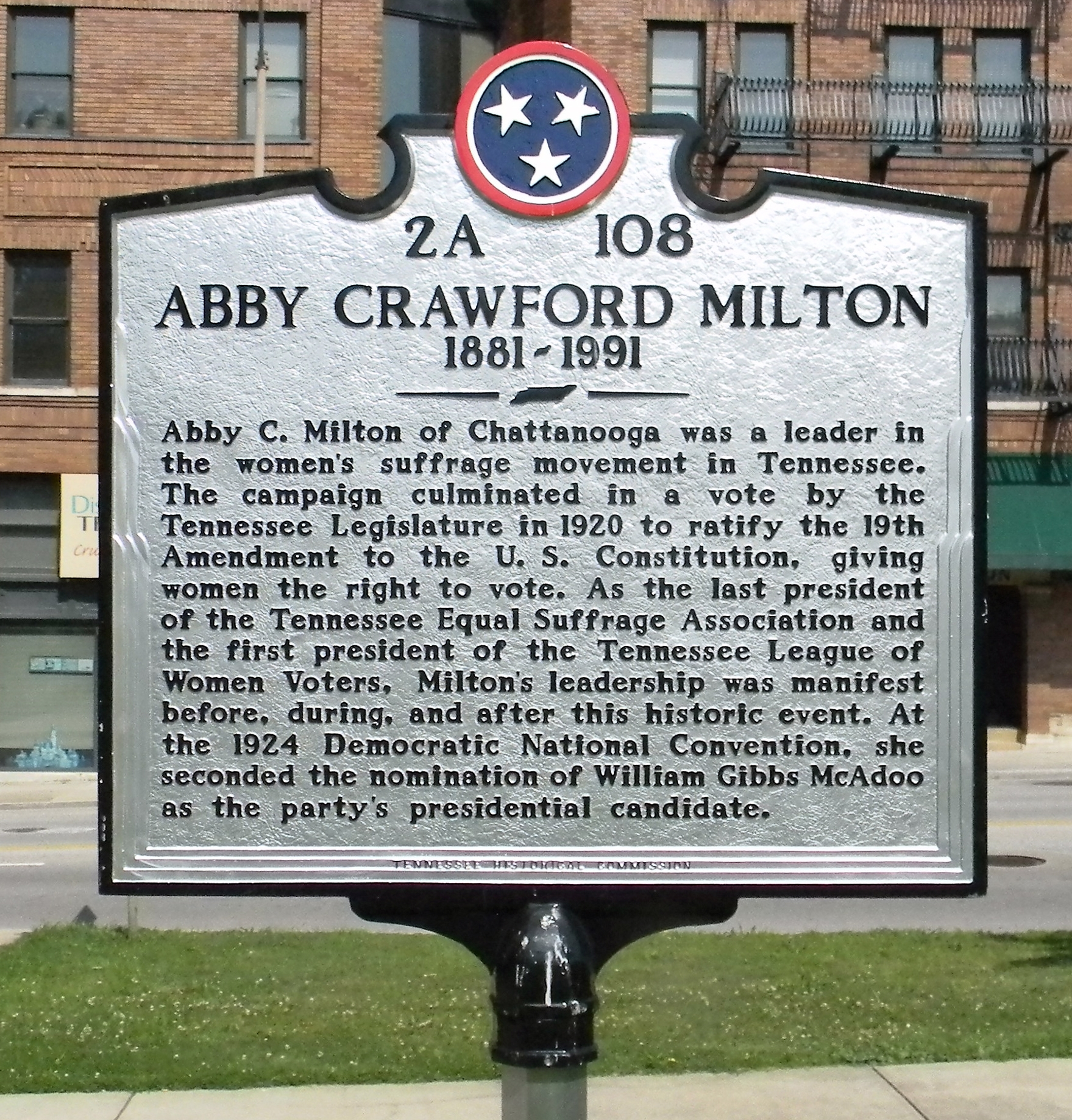Abby Crawford Milton Marker
