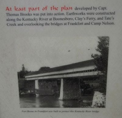 Fort Boone in Frankfort was built to protect this Kentucky River bridge image. Click for full size.