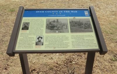 Dyer County in the War Marker image. Click for full size.