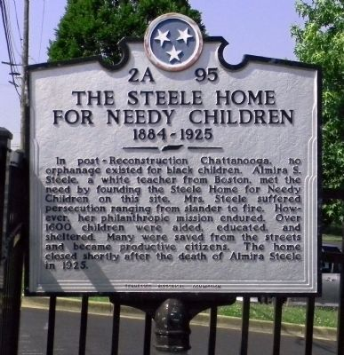 The Steele Home for Needy Children Marker image. Click for full size.