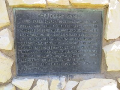 The Berry Family Marker image. Click for full size.