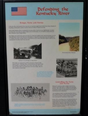 Defending the Kentucky River Wayside Exhibit image. Click for full size.