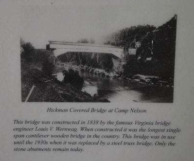 Hickman Covered Bridge at Camp Nelson image. Click for full size.