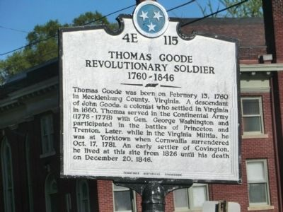 Thomas Goode Marker image. Click for full size.