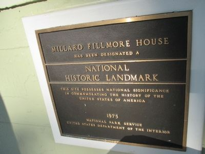 Millard Fillmore House National Historic Site Marker image. Click for full size.