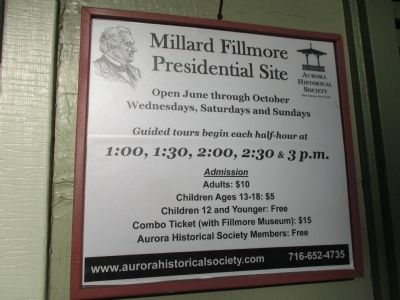 Millard Fillmore House Hours image. Click for full size.