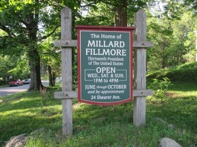 Millard Fillmore House Sign image. Click for full size.