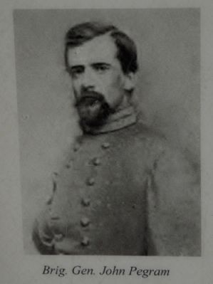 Brigadier General John Pegram, C.S.A. image. Click for full size.