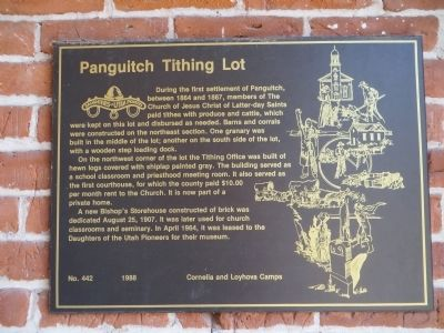 Panguitch Tithing Lot Marker image. Click for full size.
