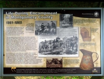 Life During Encampment in Montgomery County Marker image. Click for full size.
