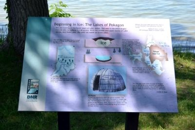 Beginning in Ice: The Lakes of Pokagon Marker image. Click for full size.