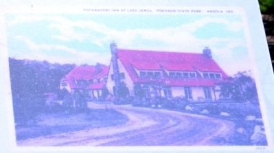 Postcard View of Potawatomi Inn Yesteryear image. Click for full size.
