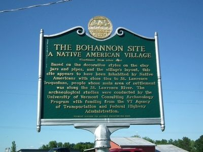 The Bohannon Site Marker image. Click for full size.