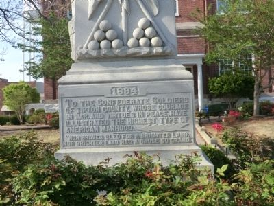 Tipton County Confederate Monument Marker image. Click for full size.