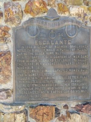 Escalante Marker image. Click for full size.