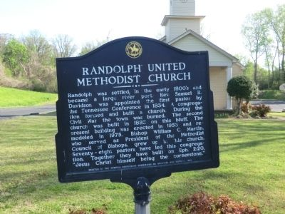Randolph United Methodist Church Marker image. Click for full size.