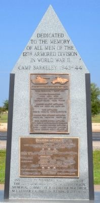 12th Armored Division Memorial image. Click for full size.