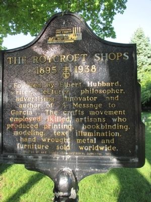 The Roycroft Shops Marker image. Click for full size.